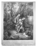 Jean Antoine Watteau and His Friend Monsieur De Julienne, Engraved by Nicolas Henri Tardieu Giclee Print by Jean Antoine Watteau