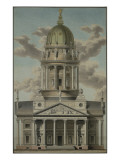 The German Cathedral on the Gendarmenmarkt, 1812 Gicl&#233;e-Druck von G.F. Kluge