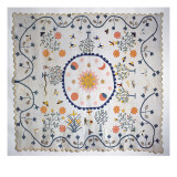 Applique Quilt with Sun, Moon, Stars and the Garden of Eden, from Arkansas, C.1890 Giclee Print by  American School