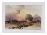 Approach of the Simoom. Desert of Gizeh, from 'Egypt and Nubia) Giclee Print by David Roberts