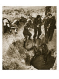 The Bodies of Greek Civilians are Pulled from a Well Shaft, 1944 Giclee Print by  English Photographer