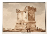 The Tomb of C.V. Marianus, also known as Nero's Tomb. Via Cassia, 1833 Giclee Print by Agostino Tofanelli