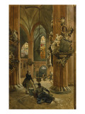 Interior of the Church of St. Nicholas, Berlin, 1886 Reproduction procédé giclée par Julius the Younger Jacob