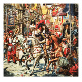 Story of Our Capital: Plague over London. Charles Ii. Giclee Print by C.l. Doughty