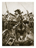 The Duke of Marlborough at the Battle of Oudenarde, July 11Th, 1708 Reproduction procédé giclée par Richard Caton Woodville II