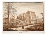 San Bonaventura and the Ruins of the Palace of the Caesars, 1833 Giclee Print by Agostino Tofanelli