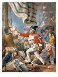 John Paul Jones Shooting a Sailor Who Had Attempted to Strike His Colours in an Engagement Giclee Print by John Collet