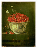 Wild Strawberries in a Chinese Wanli Kraak Porcelain Bowl, 1704 Giclee Print by Adrian Coorte