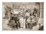 The Messenger Bringing to Harold the News of the Landing of William Giclee Print by Edouard Zier