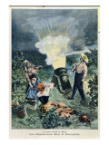 Experimenting with a Cannon to Prevent Hail Damaging Vines Giclee Print by Adolphe Crespin