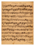 The Brandenburger Concertos, No.5 D-Dur, 1721 Reproduction proc&#233;d&#233; gicl&#233;e par Johann Sebastian Bach