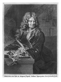 Portrait of Nicolas Boileau, known as Boileau-Despreaux, 1706 Giclee Print by Hyacinthe Rigaud