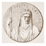 Julius Caesar, Illustration from 'Cassell's Illustrated History of England' Giclee Print by  English School