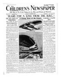 The Flying Town of the Future, Front Page of 'The Children's Newspaper', February 1934 Giclee Print by English School