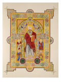 Saint Matthew, from a Facsimile Copy of the Book of Kells, Pub. by Day and Son Premium Giclee Print by  Irish School