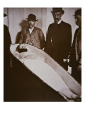 Jesse James in His Coffin after Being Shot Dead in 1882 Giclee Print by  American Photographer