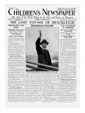 The Last Voyage of Shackleton, Front Page of 'The Children's Newspaper', February 1922 Giclee Print by English School