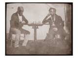 Nicolaas Henneman Contemplates His Move in a Game of Chess, September 1841 Giclee Print by Talbot