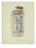Study of an Angel Statue, Certosa Di Pavia, 1891 Giclee Print by Charles Rennie Mackintosh