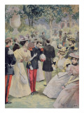 A Garden Party at the Elysee, Illustration from 'Le Petit Journal', 21st July 1895 Giclee Print by Fortune Louis Meaulle