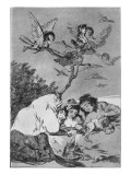 193-0082119 All Will Fall, Plate 19 of 'Los Caprichos', Pub. 1799 Giclee Print by Francisco de Goya