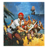 Where Once Buccaneers Reigned. When Pirates Controlled the West Indies. Giclee Print by  McConnell