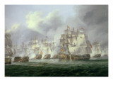 Battle of Cape St. Vincent, 14th February 1797: the British Defeat the Spanish Giclee Print by Thomas Luny