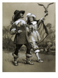 Louis Xiii as a Young Man with His Friend the Falconer Albert De Luynes Giclee Print by Frank Marsden Lea
