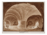 Basement of the Temple of Fortune and Rest, 1833 Giclee Print by Agostino Tofanelli