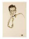 Portrait of the Art Dealer, Paul Wengraf, 1917 Giclee Print by Egon Schiele