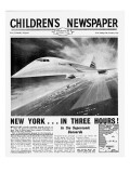 Concorde, Front Page of 'The Children's Newspaper', November 1963 Giclee Print by English School