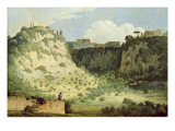 View of the Temple of Diana, Nemi, with a Shepherd in the Foreground, 1785 Giclee Print by Thomas Jones