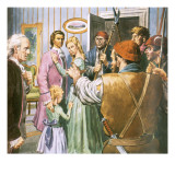 Arrest of Charles Darnay in Dickens's Tale of Two Cities Giclee Print by Barrie Linklater