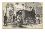 Prison Van Taking Up Prisoners at the House of Detention Giclee Print by  English School