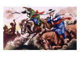 English Civil War Battle Scene from the Children of the New Forest Giclee Print by Ron Embleton