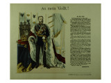 Copy of a Declaration from Frederick Iii to His Subjects, 12th March 1888 Giclee Print by  German School
