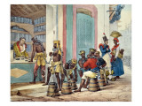 Manacled Slaves Buying Tobacco from a Tobacco Shop in Rio De Janeiro, 1835 Giclee Print by Jean Baptiste Debret