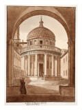 San Pietro in Montorio, the Site of St. Peter's Martyrdom, 1833 Giclee Print by Agostino Tofanelli