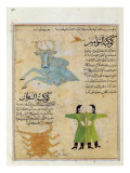 Ms E-7 Fol.23A the Constellations of the Bull, the Twins and the Crab Giclee Print by Islamic School