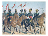 The 2nd Bombay Lancers, Review Order, Anglo-Indian Army of the 1880S Giclee Print by Richard Simkin