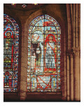 Saint Denis Gives the Oriflamme to Clement, Marechal De Metz Giclee Print by French School