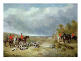The Cambridgeshire Hunt: the Meet Near Foxton Giclee Print by John Frederick Herring II