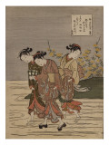 The Jewel River at Ide, from the Series 'The Six Jewel Rivers' Giclee Print by Suzuki Harunobu