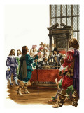 The Wonderful Story of Britain: King Charles the First Giclee Print by Peter Jackson
