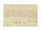 Letter from Mozart to a Freemason, January 1786 Giclee Print by Wolfgang Amadeus Mozart