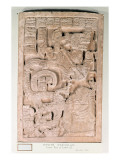 Yaxchilan Lintel 25, Late Classic Period, 600-900 Ad Giclee Print by  Mayan