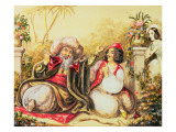 Pedrillo Plying Osmin with Drink, While Blonda Waits in the Background Giclee Print by  Austrian School