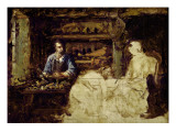 The Shoemaker of Reville, a Town Near Cherbourg Giclee Print by Guillaume Romain Fouace