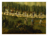 Frederick the Great on Horseback in the Maulbeerallee, Near Sanssouci, 1770 Giclee Print by  German School