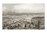 Bird's Eye View of London from Westminster Abbey, Engraved by A. Appert Giclee Print by Nicolas-marie-joseph Chapuy